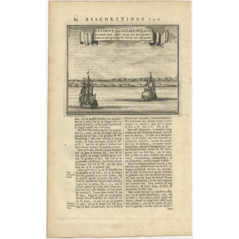 Anthony van Diemensland (..) - Valentijn (1726)