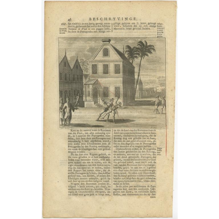 Bootsman vermoord door de Portugeesen - Valentijn (1726)