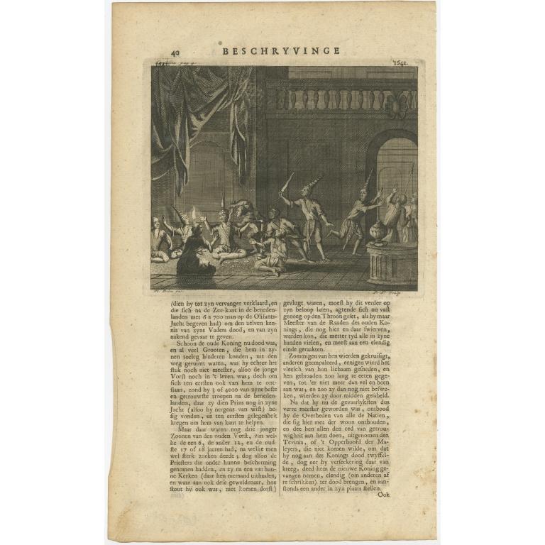 Dood des ouden en des jongen Konings - Valentijn (1726)