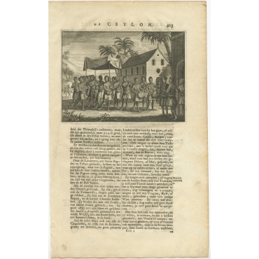Untitled Print of Musicians on Ceylon - Valentijn (1726)