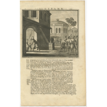 Untitled Print of the Death of the Prince of Oeva - Valentijn (1726)
