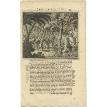Untitled Print of Unidentified figures in the woods - Valentijn (1726)