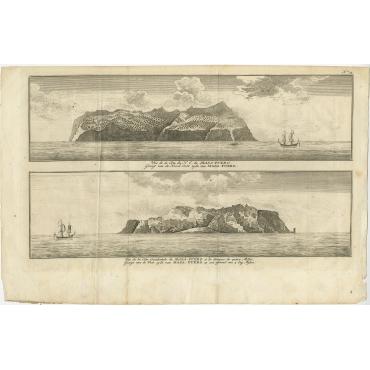 Gezigt van de Noord Oost zyde van Masa-Fuero - Anson (1765)