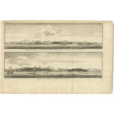 Gezigt van den Ingang van Chequeatan - Anson (1765)