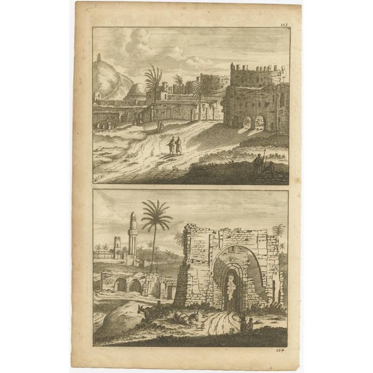 Untitled Print of Alexandria - De Bruyn (1698)