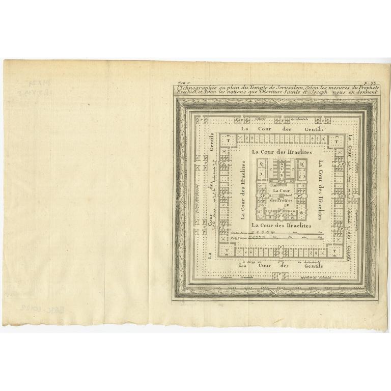 L'Ichnographie ou plan du Temple de Jerusalem (..) - Lamy (1709)