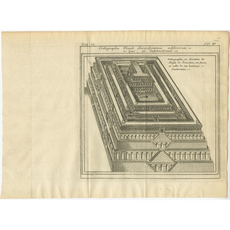 Orthographie ou elevation du Temple de Jerusalem (..) - Lamy (1709)