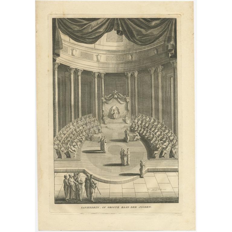 Sanhedrin, of Groote Raad der Jooden - Schenk (1726)