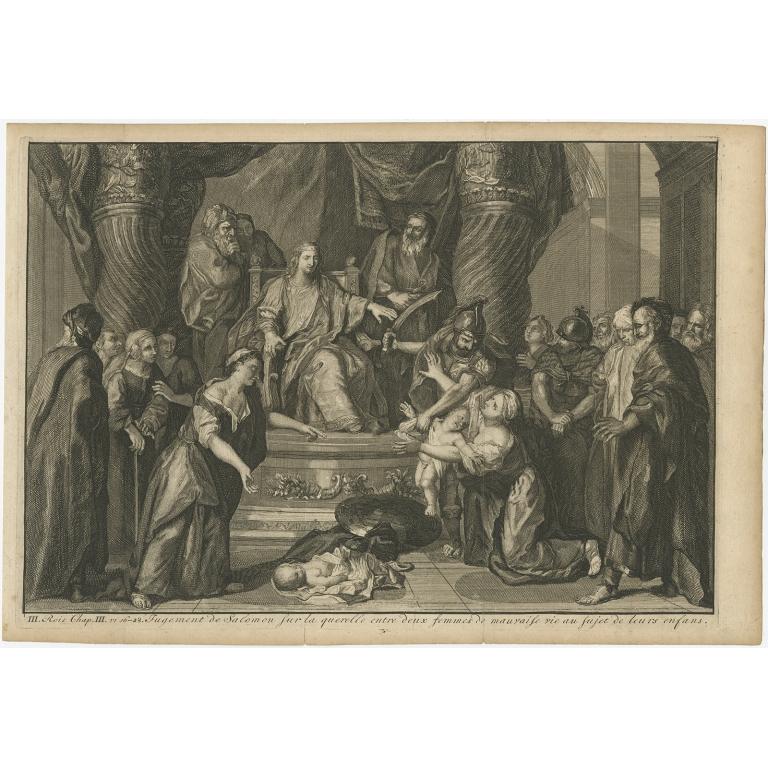 Jugement de Salomon sur la querelle (..) - Scheits (1754)