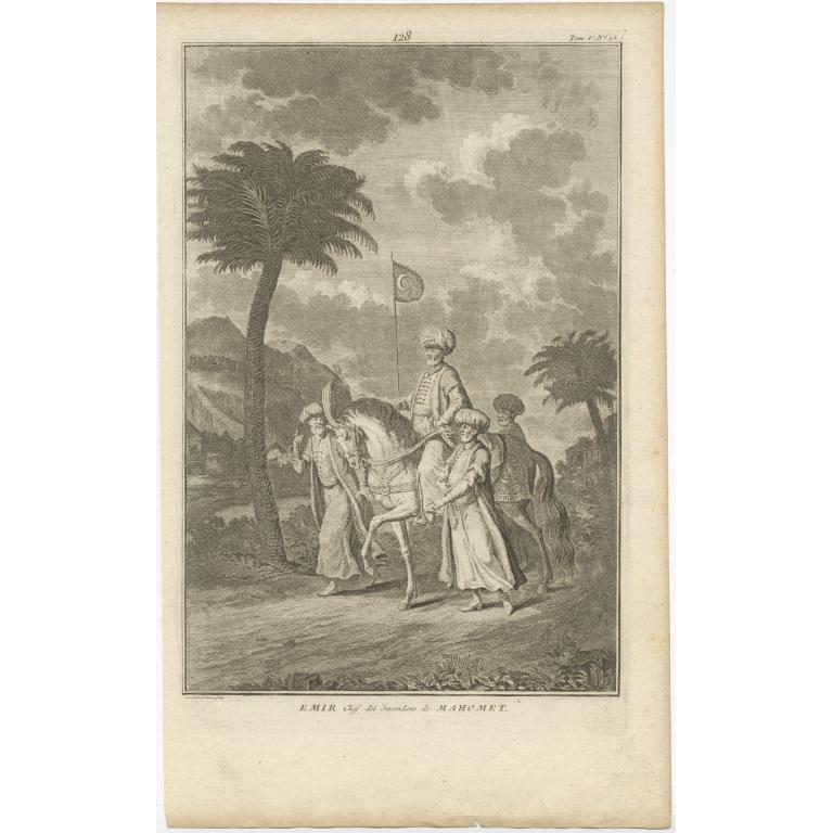 Emir Chef des descendans de Mahomet - Van der Laan (1727)