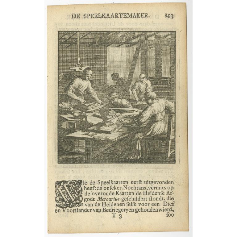 P. 293 De Speelkaartemaker - St. Clara (1717)