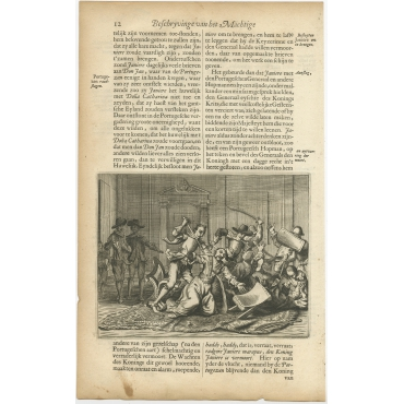 Untitled Print of Portugese Soldiers - Baldaeus (1672)