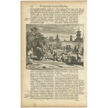 Untitled Print of Donna Catharina - Baldaeus (1672)