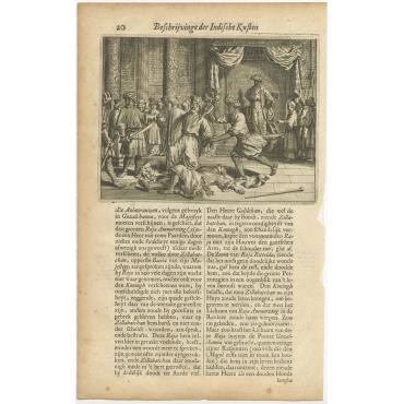 Untitled Print of the Death of Ammerzing - Baldaeus (1672)