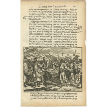 Untitled Print of Don Vasco in Calicut - Baldaeus (1672)