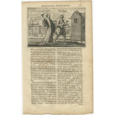 Sinese paep om Hoererije gestraft - Nieuhof (1665)