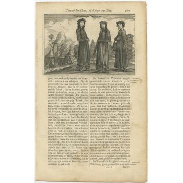Tartarische Vrouwen - Nieuhof (1665)