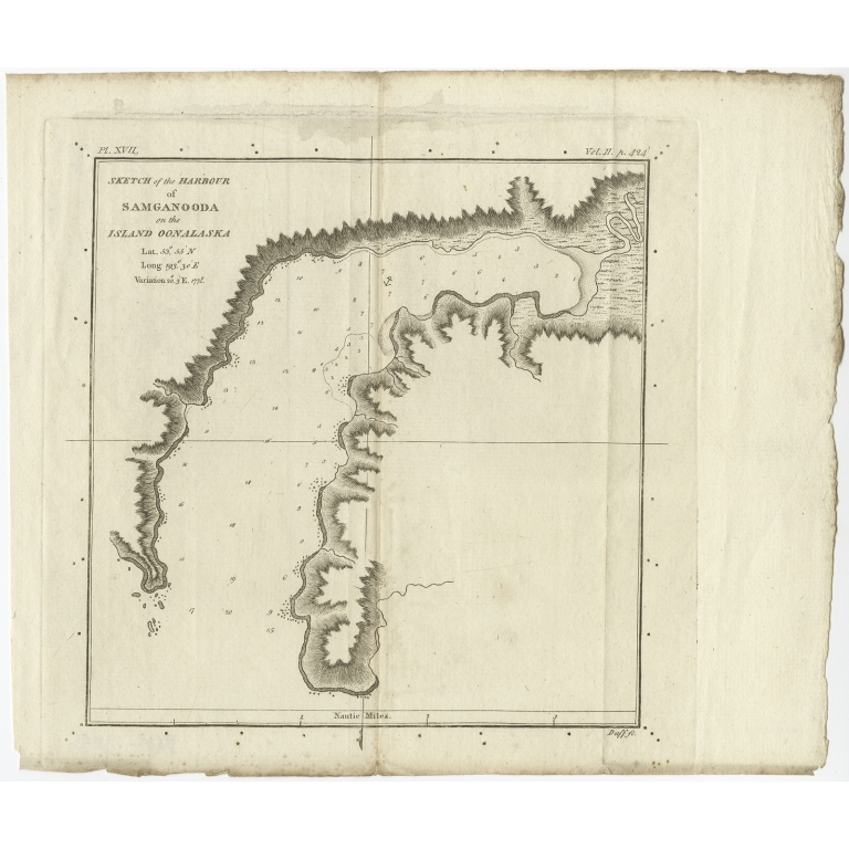 Sketch of the Harbour of Samganooda (..) - Cook (c.1781)