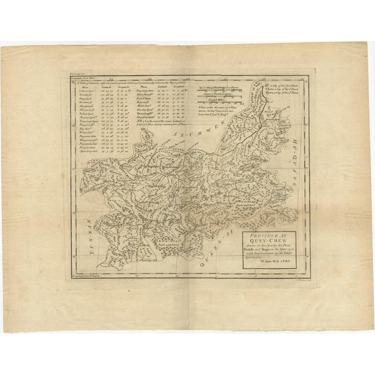 Province XV Quey-Chew (..) - Du Halde (1738)