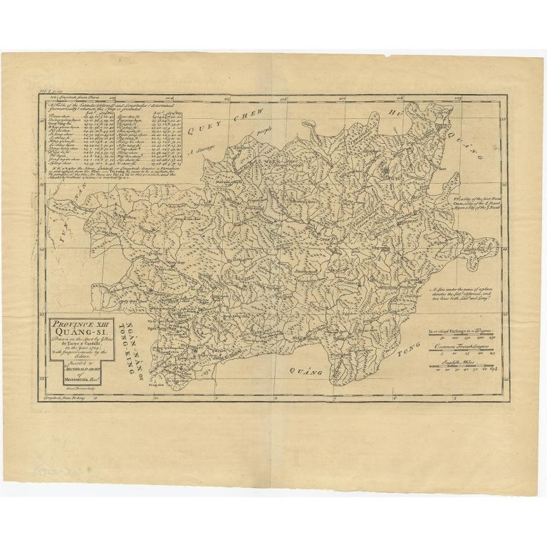 Province XIII Quang-Si (..) - Du Halde (1738)
