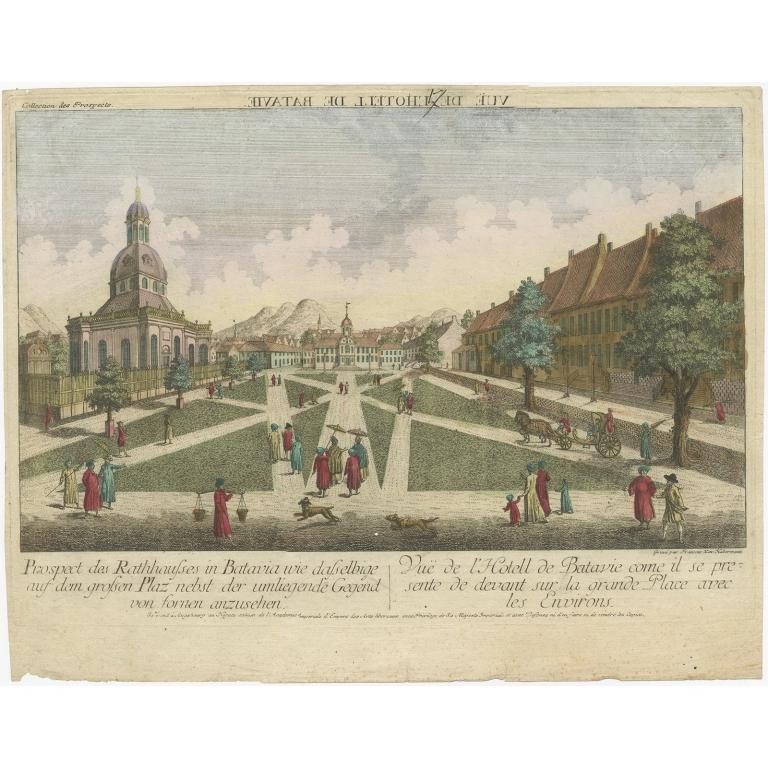 Prospect des Rathhauses in Batavia (..) - Habermann (1770)