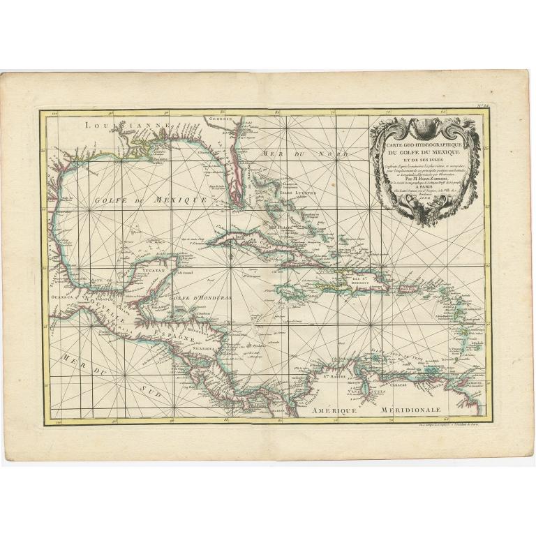 Carte Geo-Hydrographique Du Golfe Du Mexique (..) - Rizzi-Zannoni (1771)