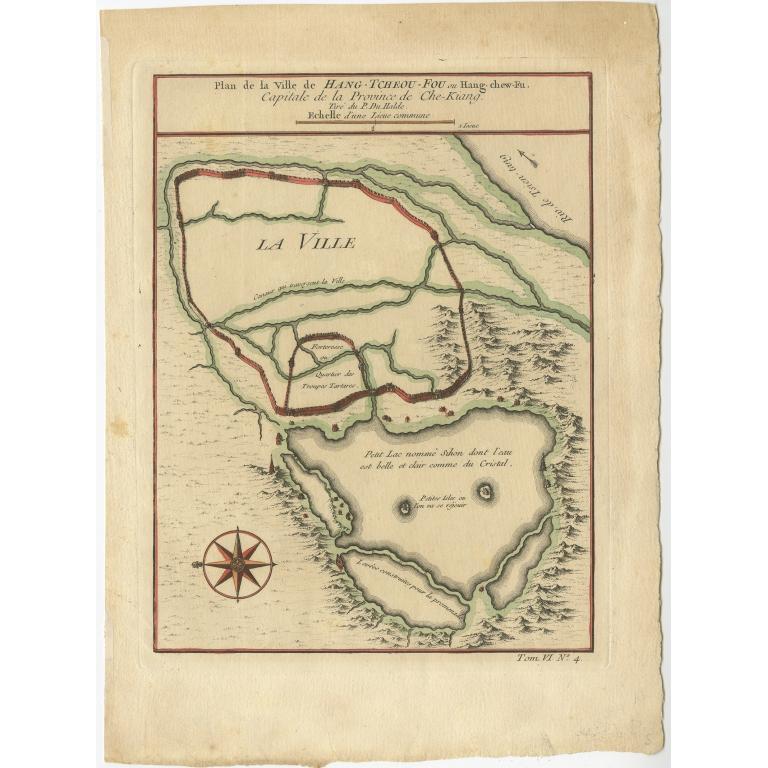 Plan de la Ville de Hang-Tcheou-Fou (..) - Bellin (c.1750)