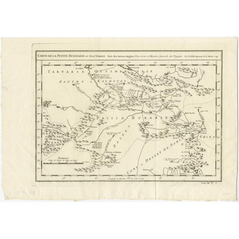 Carte de la Petite Bukharie (..) - Bellin (1749)