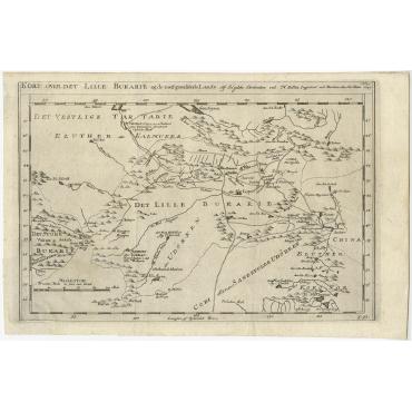 Kort over det Lille Bukarie (..) - Bellin (1757)