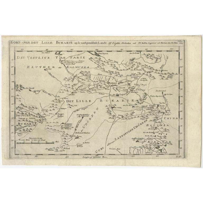 Kort Over Det Lille Bukarie Bellin 1757