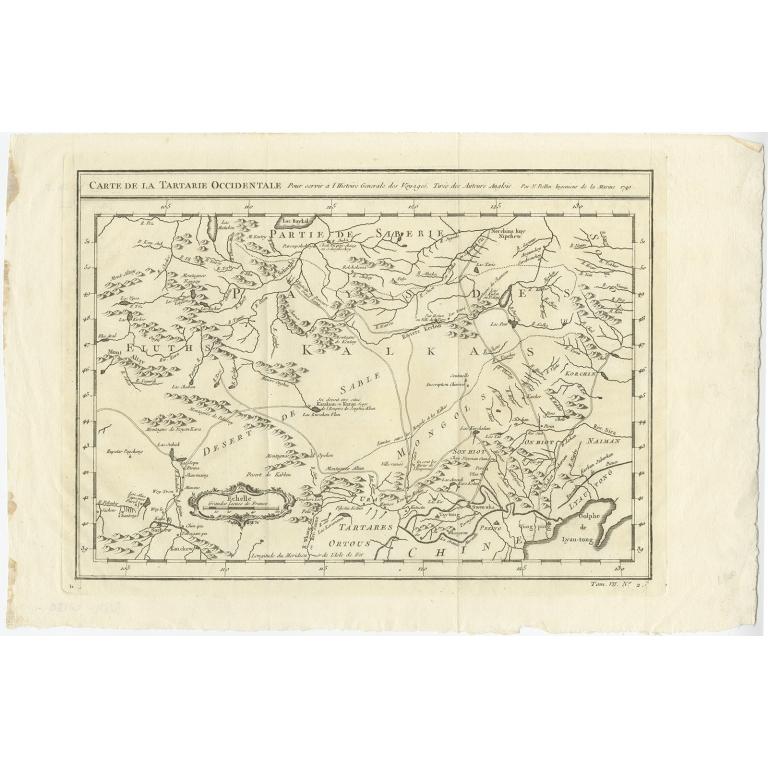 Carte de la tartarie occidentale - Bellin (c.1750)