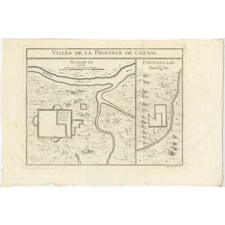 Villes de la Province de Chensi - Bellin (1748)