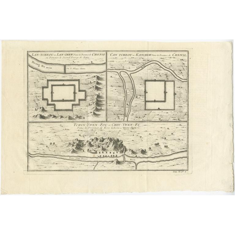 Lan-Tcheou ou Lan-Chew dan la province Chensi (..) - Bellin (1749)