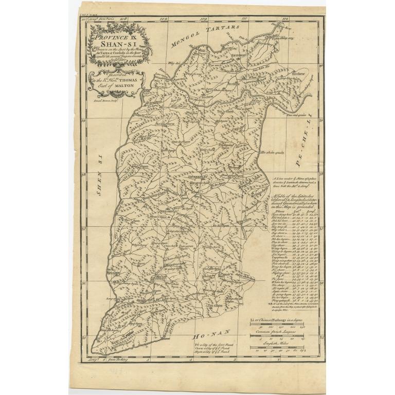 Province IX Shan-Si - Du Halde (1738)
