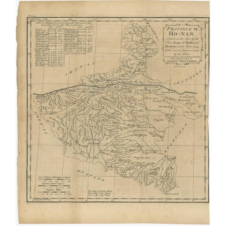 Province VII Ho-Nan - Du Halde (1738)