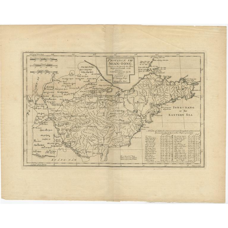 Province VIII Shan-Tong - Du Halde (1738)
