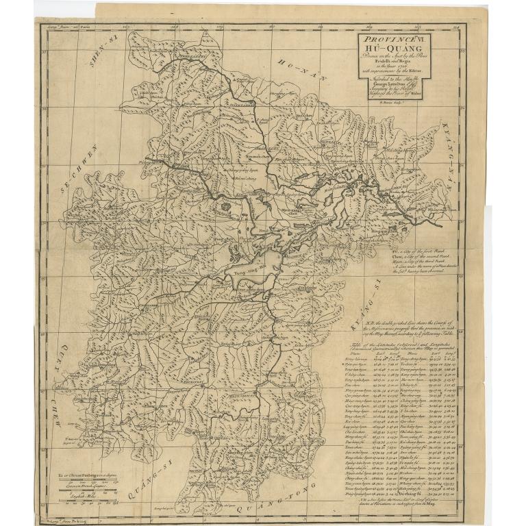 Province VI Hu-Quang - Du Halde (1738)