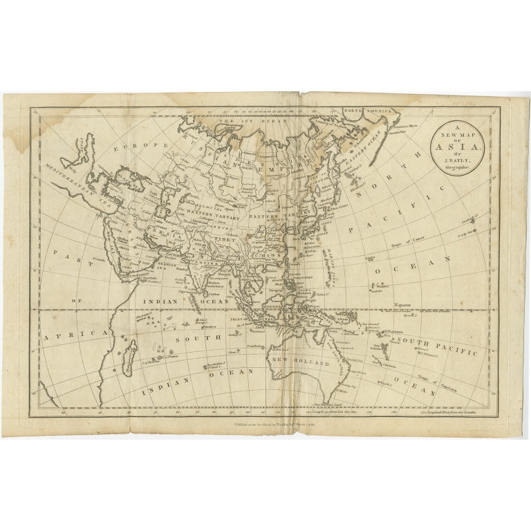 A New Map of Asia - Bayly (1782)