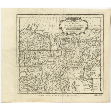 Suite de la Carte de la Sibérie - Bellin (1764)