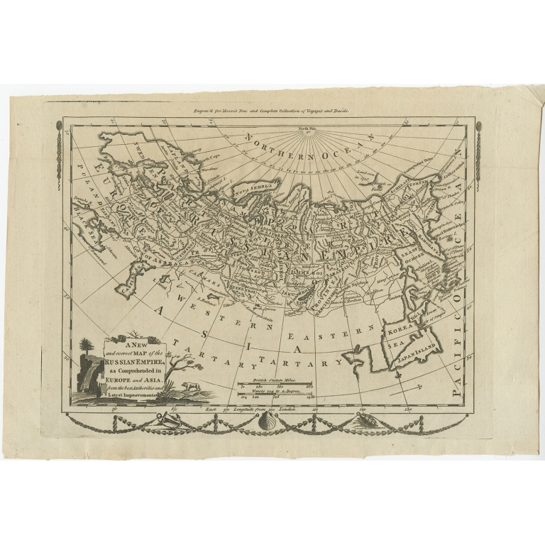 A New and Correct Map of the Russian Empire - Moore (1778)