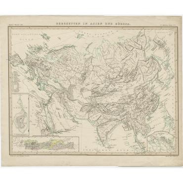 Bergketten in Asien und Eüropa - Berghaus (1849)