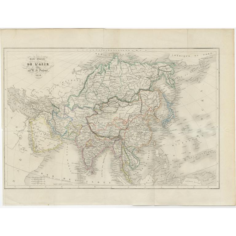 Carte Générale de l 'Asie - Dufour (1855)