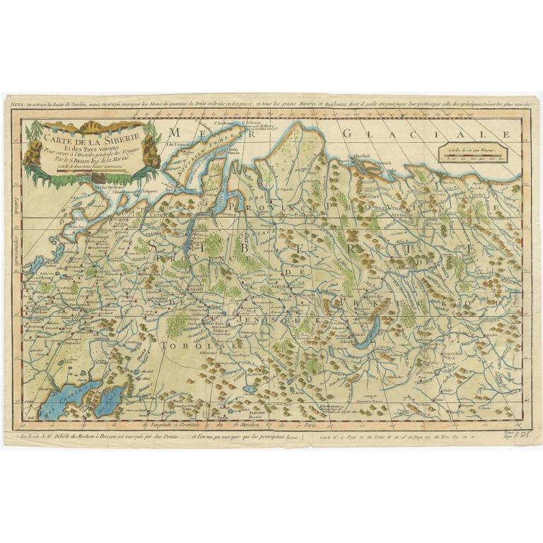 Carte de la Siberie - Bellin (1754)