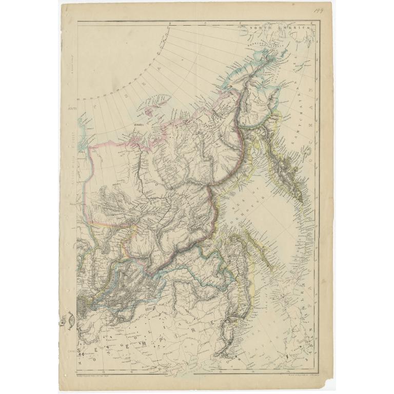 Russia in Asia, E Sheet - Lowry (c.1865)