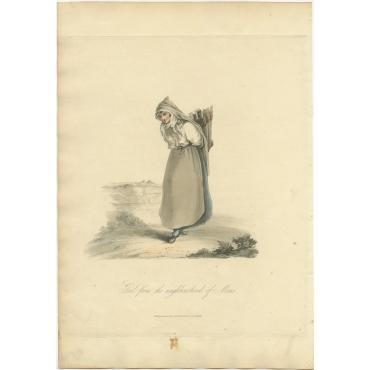 Girl from the neighbourhood of Mons - Ackermann (1817)