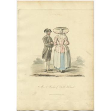 Man & Woman of North Holland - Ackermann (1817)