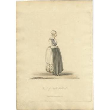 Woman of North Holland - Ackermann (1817)
