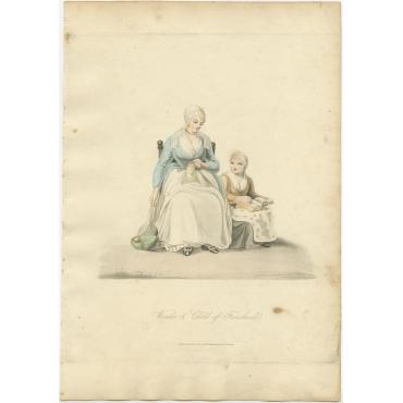 Woman & Child of Friesland - Ackermann (1817)