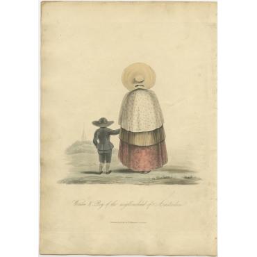 Woman & Boy of the neighbourhood of Amsterdam - Ackermann (1817)