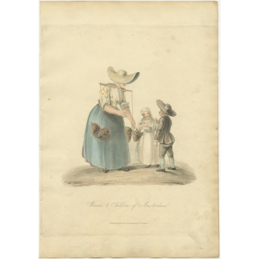 Woman & Children of Amsterdam - Ackermann (1817)